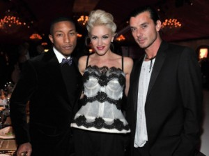Pharrell Williams, Gwen Stefani, Gavin Rossdale