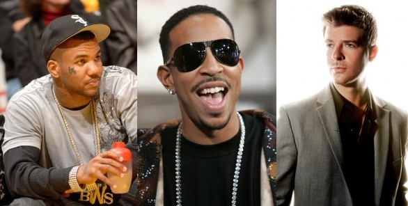 Game, Ludacris & Robin Thicke