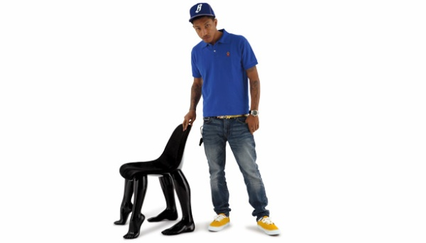 Pharrell Williams With Perspective Chair