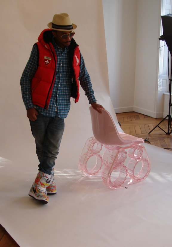 Pharrell At The Tank Chair Photoshoot The Neptunes 1 fan site