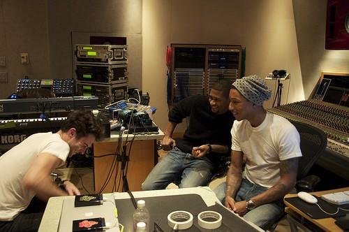 Usher, Levine, Pharrell