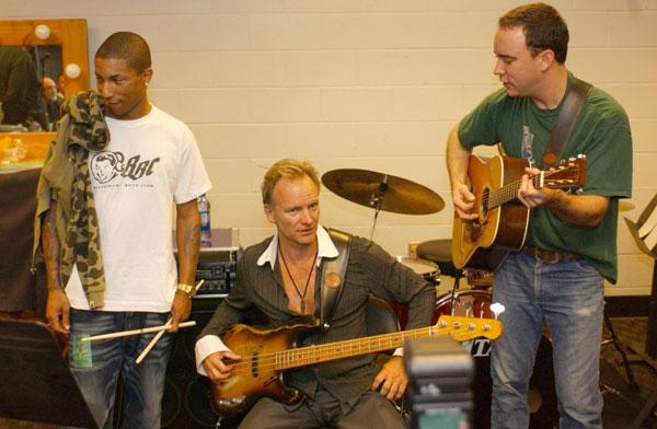 Pharrell, Sting & Dave Matthews