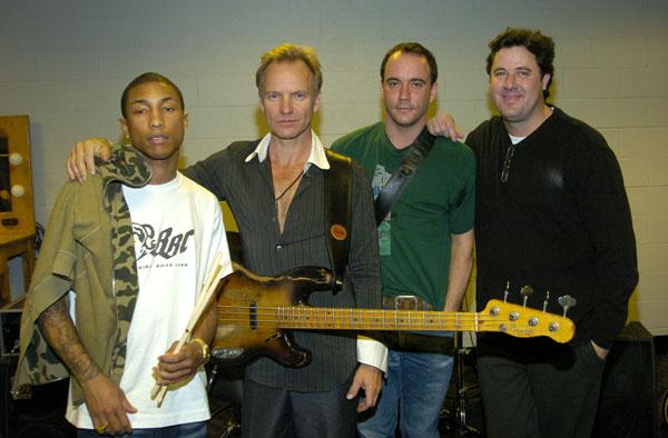 Pharrell, Sting, Vince Gill & Dave Matthews
