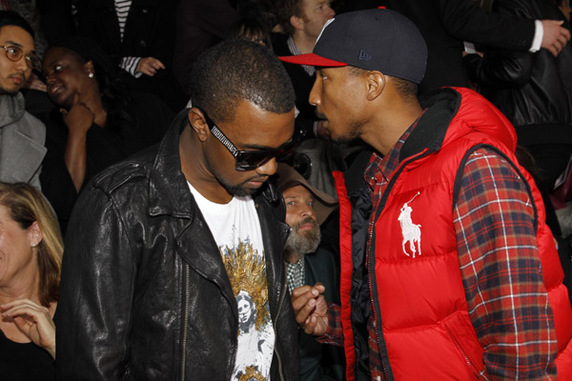 Pharrell & Kanye West At The Lanvin Show, Paris | The ...