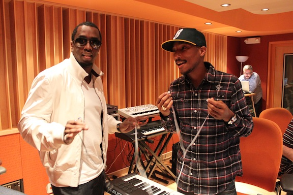 Pharrell & Diddy In Studio