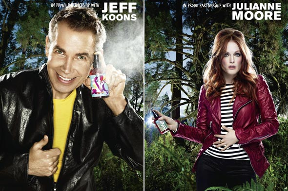 Kiehl's Earth Day Shots Campaign Julianne Moore & Jeff Koons