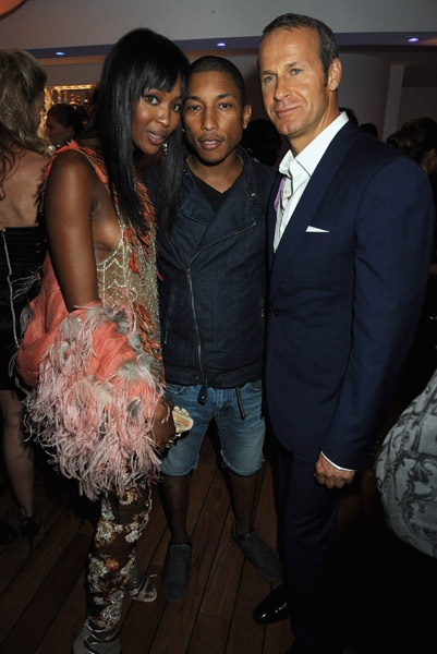 Pharrell Williams, Naomi Campbell & Vladimir Doronin